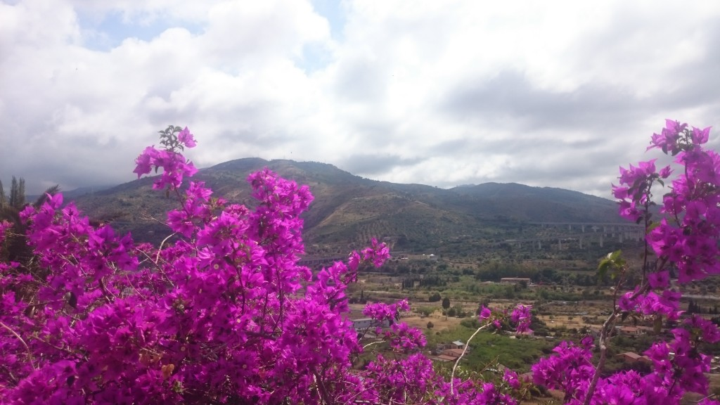 Сицилия. Санто Стефано ди Камастра. Панорама към планината