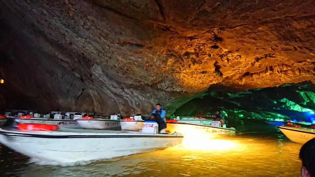 Ляонин. Пещера Бънси. Лодки